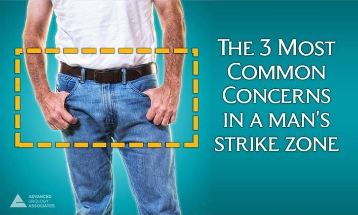 The 3 most common concerns in a man's strike zone - Advanced Urology Associates - Men's Health