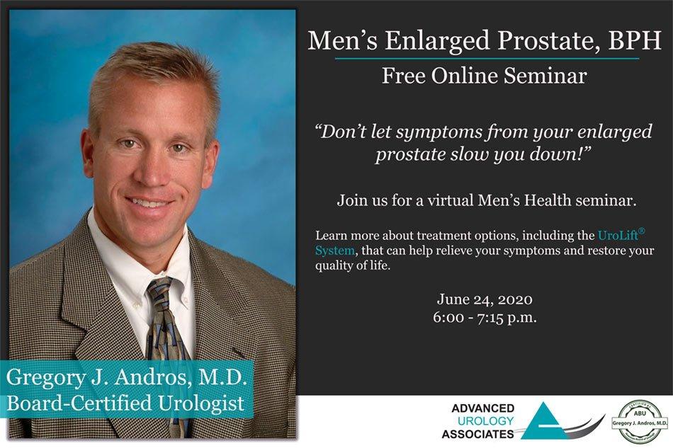 Men's Enlarged Prostate, BPH Free Online Seminar