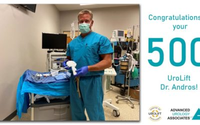 Dr. Gregory J. Andros Treats 500th Patient with the UroLift® System for BPH (Enlarged Prostate)