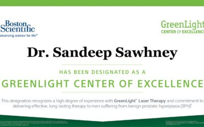 Dr. Sandeep Sawhney Designated as Center of Excellence for GreenLight Laser Therapy Treatment for BPH