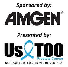 Bone and health seminar sponsor AMGEN and Presenter UsToo Logos
