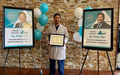 Dr. Tek Designated as a UroLift Center of Excellence